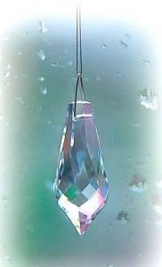 Crystal~Pendulum 38 Clear Swarovski Rainbow Hanging Crystal-A stunning array of dancing light